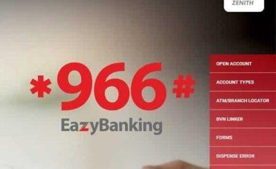 Zenith Bank ussd code